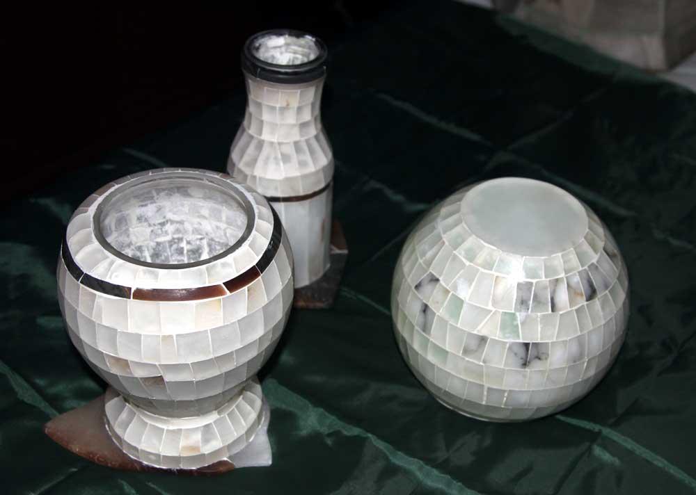 Vasi                         mosaico alabastro